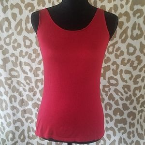 Eileen Fisher red silk/cashmere tank size small